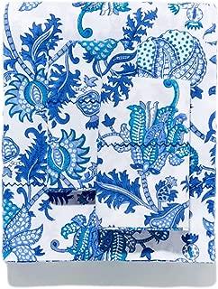 Roberta Roller Rabbit 4-Pc Amanda Cotton Sheet Set Queen Blue