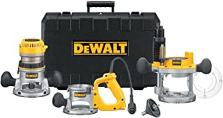 DEWALT Router, Fixed/Plunge Base Kit, 12-Amp, 2-1/4-HP (DW618B3)