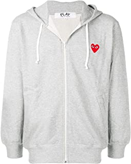 Comme des Garçons Play Men's P1t250grey Grey Cotton Sweatshirt
