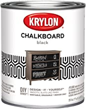 Krylon K05223000 Chalkboard Paint Special Purpose Brush-On, Black, Quart