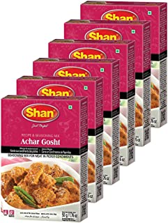 Sponsored Ad - Shan Achar Gosht Recipe and Seasoning Mix 1.76 oz (50g) - Spice Powder for Meat in Pickle Condiments - Suit...