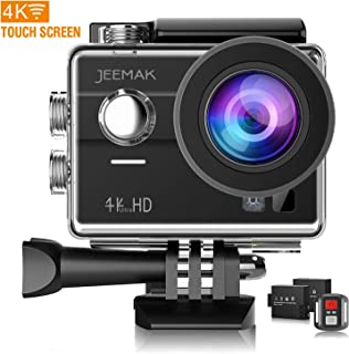 Action Camera 4K 16MP WiFi Touch Screen Underwater 30M with Remote Control IP68 Waterproof Case