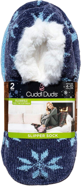 Cuddl Duds Plushfill Women's Slipper Socks