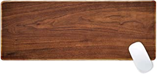 Galdas Gaming Mouse Pad XXL XL Large Mouse Pad Long Extended Mousepad Desk Pad Non-Slip Rubber Mice Pads Stitched Edges Thin Pad (31.5x11.8x0.08 Inch) (Wood)