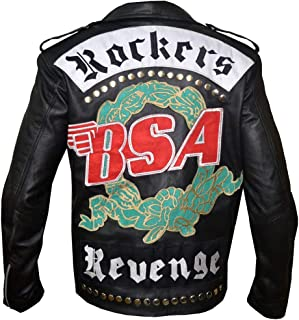 George Michael BSA Faith Rockers Revenge Black Biker Leather Jacket, XXS-3XL