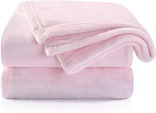 TILLYOU Micro-Fleece Plush Soft Baby Blanket Hypoallergenic Fluffy Warm Toddler Bed/Crib Blanket, Oversized Lightweight Fl...