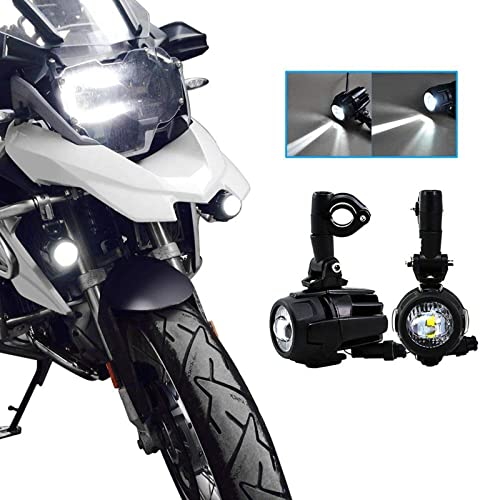 Luces de niebla de la motocicleta LED,Lámparas Auxiliares 40W Lámparas de conducción de haz