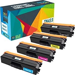 Do it Wiser Compatible Toner Cartridge Replacement for TN433 TN-433 TN431 Brother MFC L8900CDW HL-L8360CDW L8260CDW MFC-L8610CDW L9570CDW HL-L9310CDW (4-Pack)