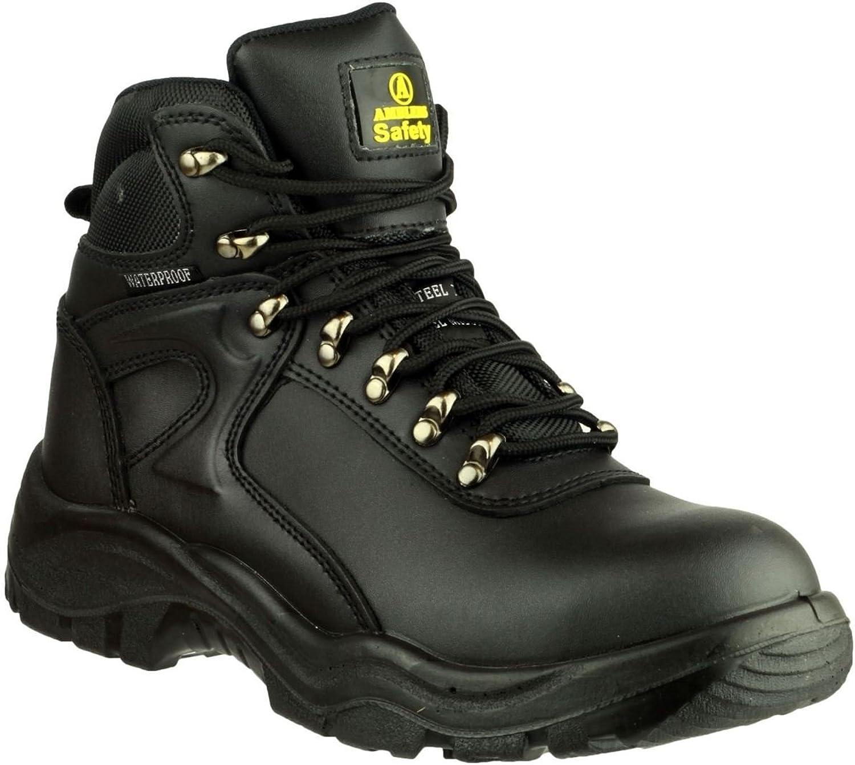 Mens Black Amblers Steel FS218 W P Safety Boots