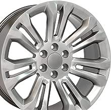 OE Wheels 22 Inch Fits Chevy Silverado Tahoe GMC Sierra Yukon Cadillac Escalade CV43 Hyper Black 22x9 Rim Hollander 5666