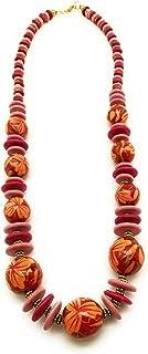 DCA Wood Women Necklace Multicolor(4385)