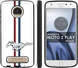 [Mobiflare] Slim Anti-Shock Designer Phone Case for Motorola Verizon MOTO [Z Play] Droid XT1635 2017 [Black] Case [Mustang Horse Print]