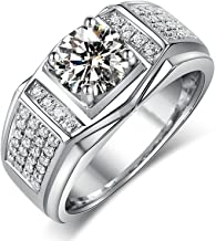 Luxe zirkoon roestvrijstalen mannelijke ring charme herenaccessoires mode-sieraden jubileum cadeau