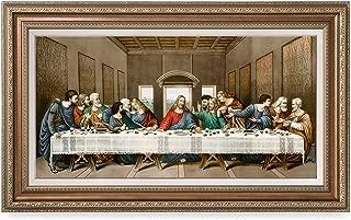 DECORARTS The Last Supper, Leonardo Da Vinci Classic Art Reproductions Giclee Print and Museum Quality Framed Art for Wall Decor