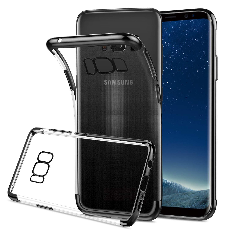 HOOMIL Transparente Silicona Funda para Samsung Galaxy S8 Plus, Clear Carcasa Case para Samsung Galaxy S8 Plus Smartphone, Negro Bumper: Amazon.es: Electrónica