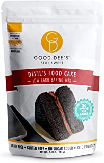Good Dee's Devil's Food Cake Mix | Low Carb Keto Sugar Free Cake Mix (2g Net Carbs, Per Serving), Grain-Free, Gluten-Free ...