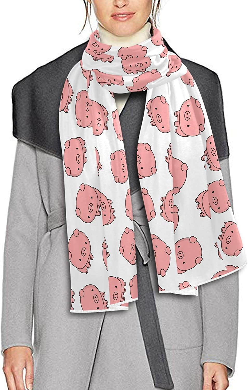 Scarf for Women and Men Cute Animals Pig Blanket Shawl Scarf wraps Soft warm Winter Oversized Scarves Lightweight