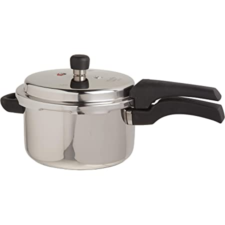 Prestige 4L Alpha Deluxe Induction Base Stainless Steel Pressure Cooker, 4.0-Liter