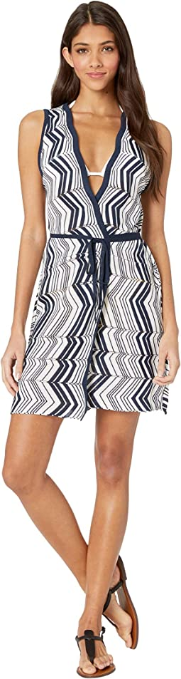 Chevron Covers Wrap Tunic Cover-Up