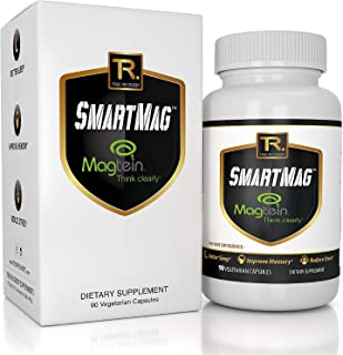 Magnesium L Threonate Pills (Magtein) - Patented Formula with Glycinate for Sleep, Memory and Stress - High Absorption - Most Bioavailable Form - 90 Veggie Capsules