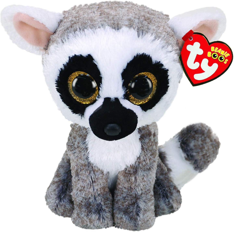 """Ty Beanie Boos 6"""" Linus The Lemur, Perfect Plush!"""