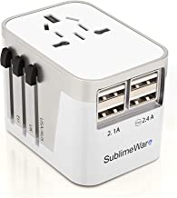 International Power Adapter Travel Plug - 4 USB Ports Universal Work for 150 Countries - 120 Volt Adapter - Adapter Type C...