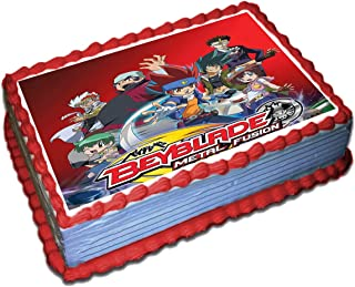 Beyblade Edible Cake Topper Icing Sugar Paper 8.5 x 11.5 Inches Sheet Edible Frosting Photo Birthday Cake Topper (Best Quality Printing)