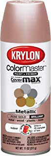 Krylon 43264846 11oz Colormaster Indoor Aerosol Paint 11oz GOLD11oz-ROSE, 12oz, Rose Gold