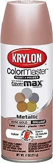 Krylon 43264846 11oz Colormaster Indoor Aerosol Paint 11oz GOLD11oz-ROSE, 12oz, Rose Gold