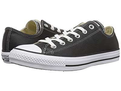 Converse Chuck Taylor(r) All Star(r) Leather Ox (Black) Shoes