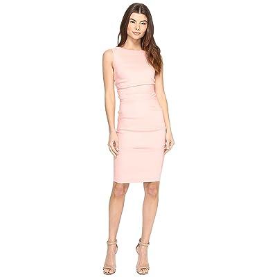 Nicole Miller Lauren Stretch Linen Dress (Petal Pink) Women