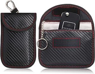HoYiXi Signal Blocking Tasche für Auto Schlüssel 2 Pack Faraday Tasche Kartenetui Kartenhalter Kleine Portemonnaie Keyless Entry Auto Schlüssel Etui RFID Blocking Tasche für Autoschlüssel (2 Pack)