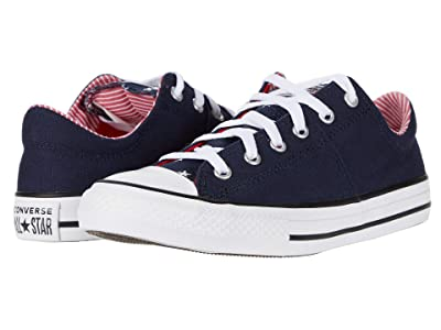 Converse Kids Chuck Taylor All Star Madison Starry Ox (Little Kid/Big Kid) (Obsidian/University Red/White) Girl