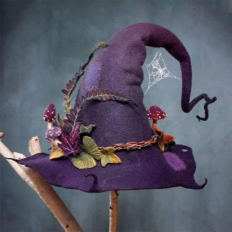 Max 70% OFF LASULEN Nashville-Davidson Mall Halloween Party Felt Costume Hats Witch