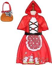 IWEMEK Disfraz de Caperucita Roja Vestido de Princesa tut/ú con Capa para Ni/ña Bebe Infantil Disfraces de Carnaval Halloween Fiesta Cumplea/ños Navidad Trajes Cosplay Fancy Dress Up 3meses a 4 a/ños
