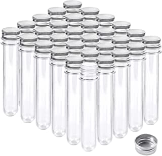 30Pcs Plastic Storage Empty Tubes 40ML Clear Plastic Test Tubes With Screw Caps Jelly Cookie Nuts Containers