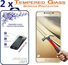 2X Samsung Galaxy C5 Glass Screen Protector, [2 Pack] Nacodex Premium Tempered Glass Screen Protector Film for Samsung Galaxy C5 C5000 (2016) 9H Glass 0.3mm