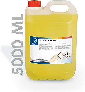 IQG Fregasuelos Concentrado 5L. Limpiador de Suelos perfumado para Todo Tipo de Suelos (terrazo, mármol, cerámica, parket, etc). (Limon)