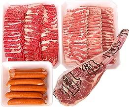【冷凍】加茂川 メガ盛り 焼肉得々セット (牛肉1000g 豚肉1000g フランク500g トマホークステーキ1本約700g)