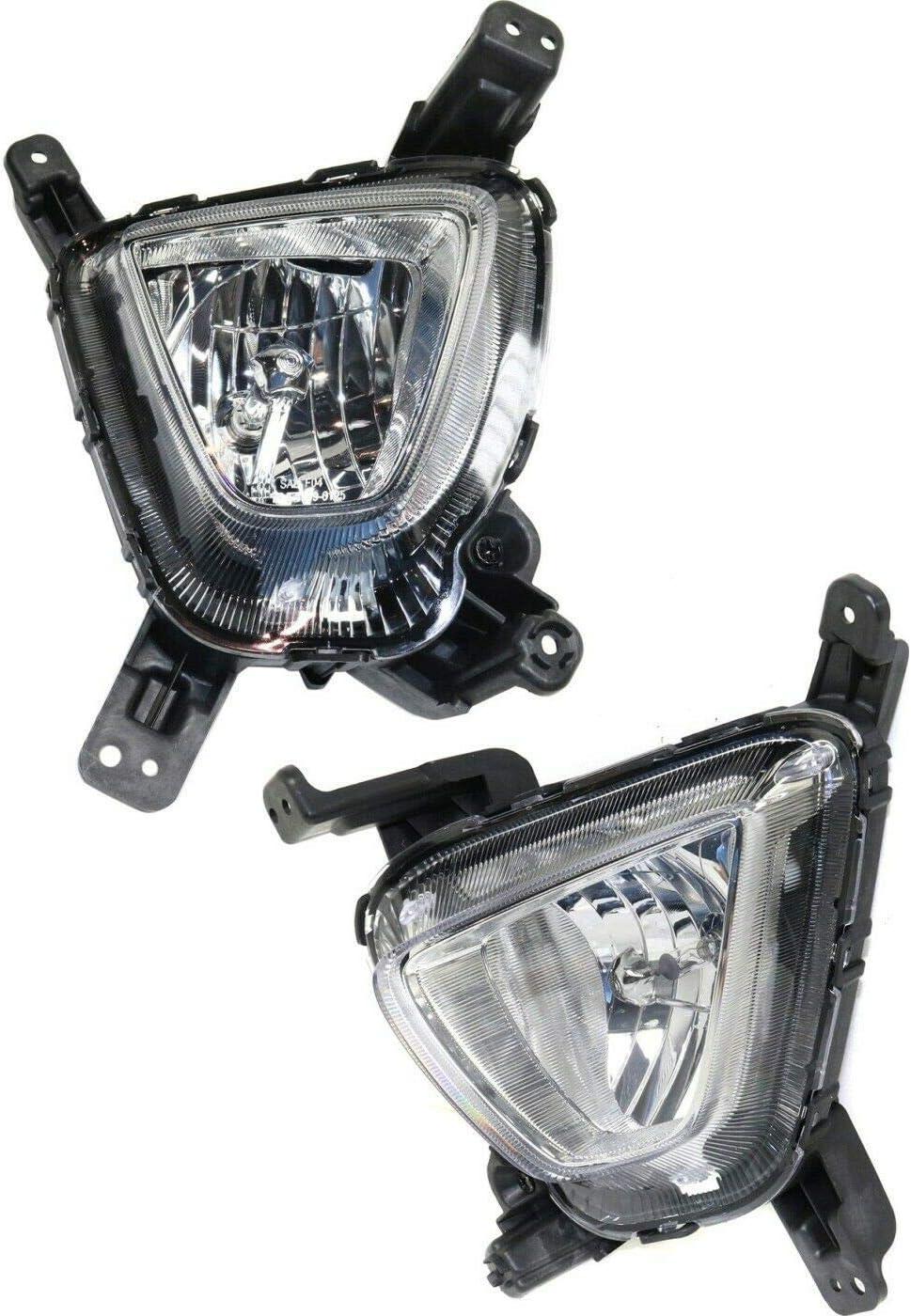 YHA Oklahoma City Mall 13462483 2pcs Clear Lens Import Fog with Sor Light Compatible 16-18