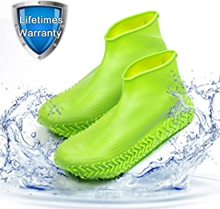 Waterproof Shoe Cover, Homestine Reusable Silicone Non-Slip Rain&Snow Boot for Cycling, Camping, Gradening, Picnic and Daily Cleaning, Fit of Men, Women and Childs