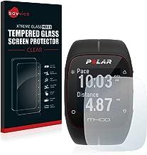 savvies Cristal Templado Compatible con Polar M400 / M430 Protector Pantalla Vidrio Proteccion 9H Pelicula Anti-Huellas