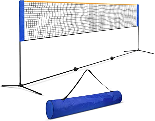 wholesale ORIENTOOLS Badminton Tennis high quality Net Set, Portable Sports Set with Poles Carrying Bag outlet online sale for Kids Volleyball Pickleball Indoor, Outdoor, Beach, Backyard (10ft 14ft 17ft) online