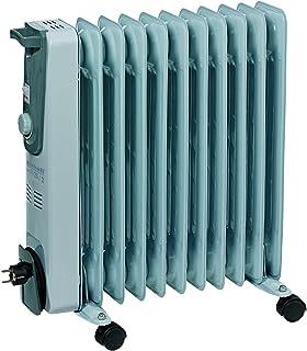 Einhell MR 1125/2 - Calefacción eléctrica radiador de aceite mr 1125/1 (2500 vatios, 3 configuraciones de calor, 11 costillas, el termostato, 4 ruedas de maniobra, la gestión de cable a mano, asa integrada)