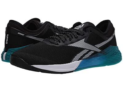 Reebok Nano 9 (Black/Seaport Teal/Humble Blue) Men