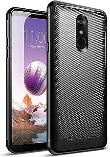 LG Stylo 4 Case, LG Stylo 4 Plus Case, Poetic Karbon Shield [Shock Absorbing][Carbon Fiber Texture] Slim Fit Fixable TPU Case for LG Stylo 4 Plus/LG Stylo 4 (2018) - Black