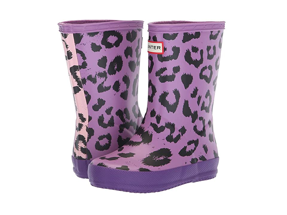 Hunter Kids First Classic Leopard Print (Toddler/Little Kid) (Thistle/Acid Purple/Mist Pink) Girls Shoes