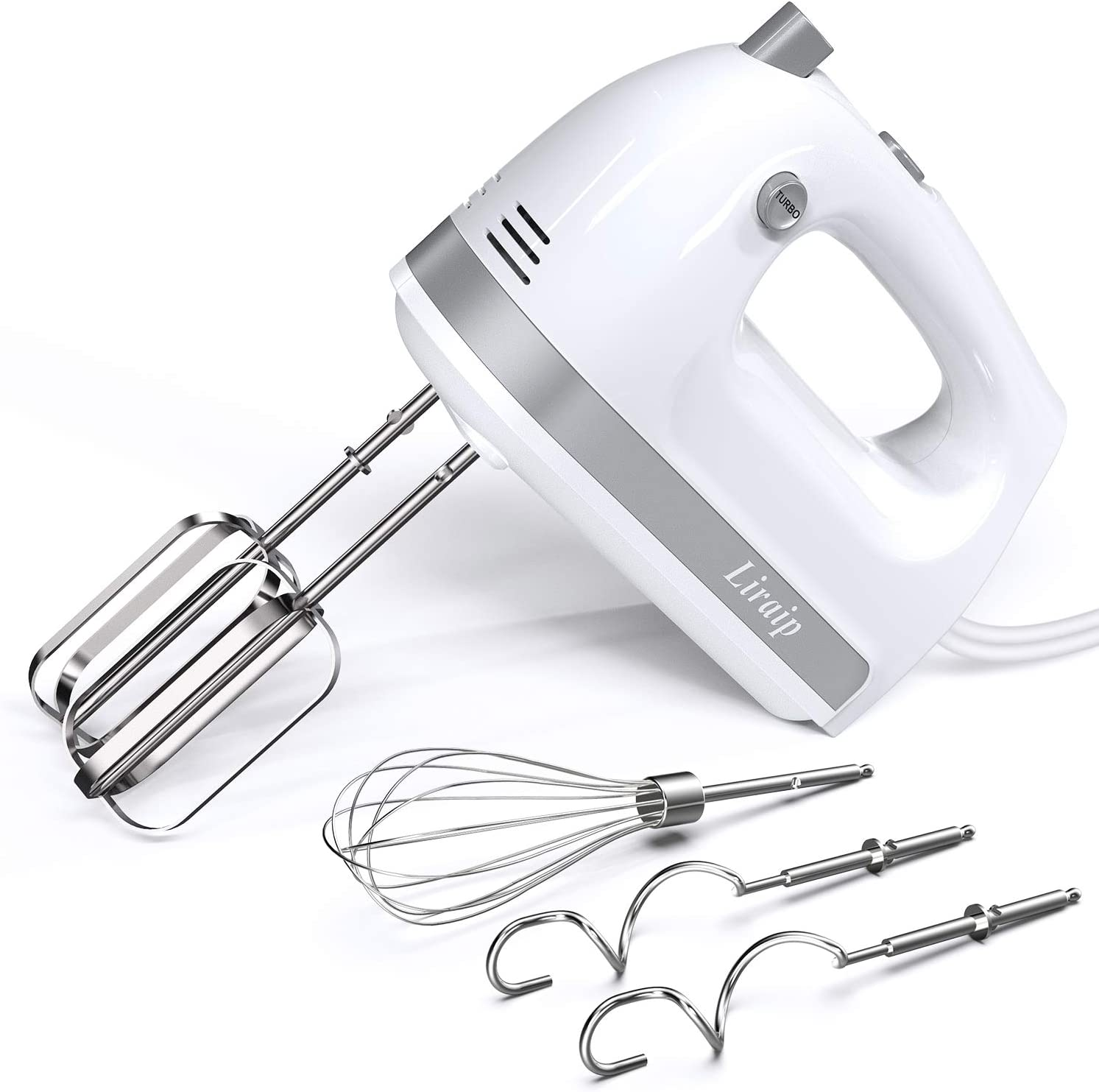 Liraip Hand Mixer Sale special ! Super beauty product restock quality top! price Electric 5 Turbo 400W Speed with Stainless