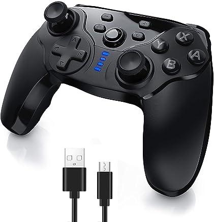 Switch Pro コントローラー 無線【連射機能搭載】 Bluetooth 接続 ワイヤレス ジャイロセンサー 2重振動 Nintendo Switch ver7.0.0に対応 PC ゲームパッド ゲームコントローラー