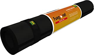 Fuegonet 231437 - Alfombra ignifuga, color negro, 100 x 50 cm